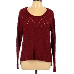Lucky Brand red sweater size extra large